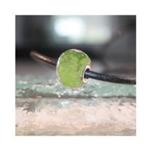 Perle de verre verte