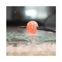 Perle de verre orange