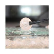 Perle de verre blanche